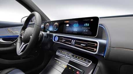 Minimalist: Two large digital displays remove several buttons and dials from the EQC's dash.