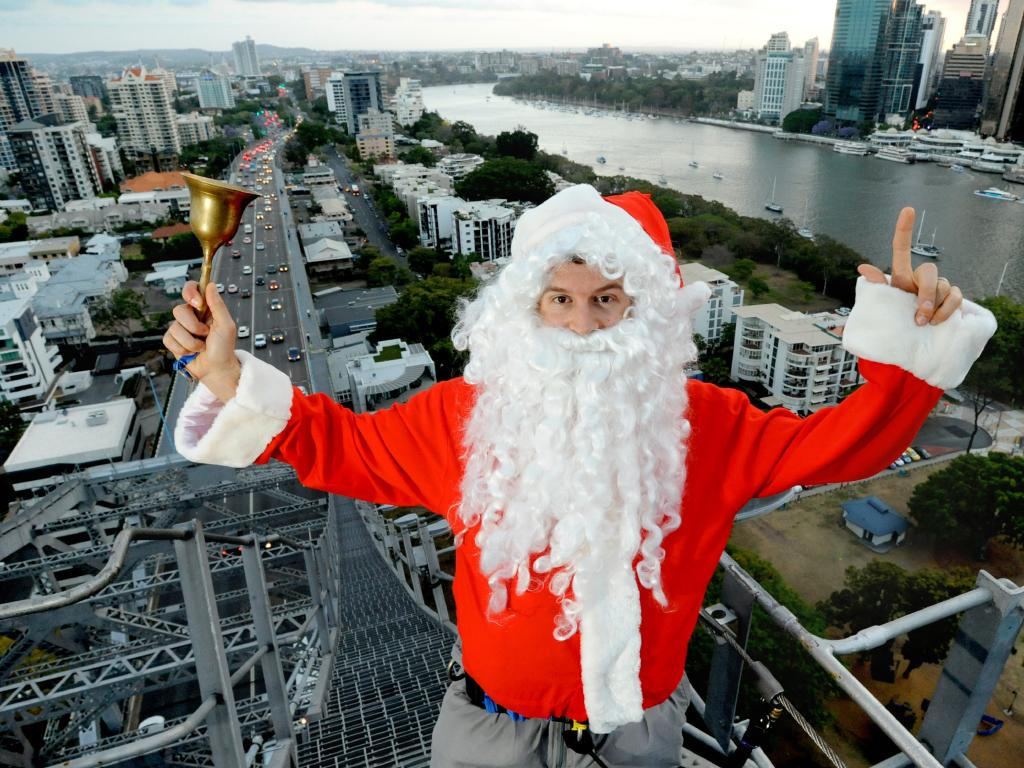 Santa Claus at Story Bridge Adventure Climb - Picture: Richard Walker