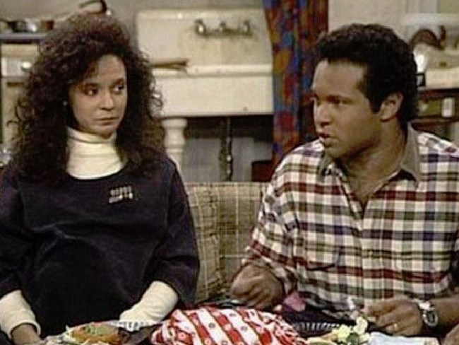 Geoffrey Owens as Elvin and his on-screen wife, Sondra, played by Sabrina LeBeauf. Picture: NBC