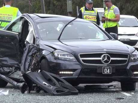 The car Mrs Vieira was driving, after the crash. Picture: TNV