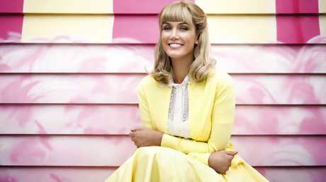 Delta Goodrem in a scene from the Olivia Newton-John TV bio drama Hopelessly Devoted to You