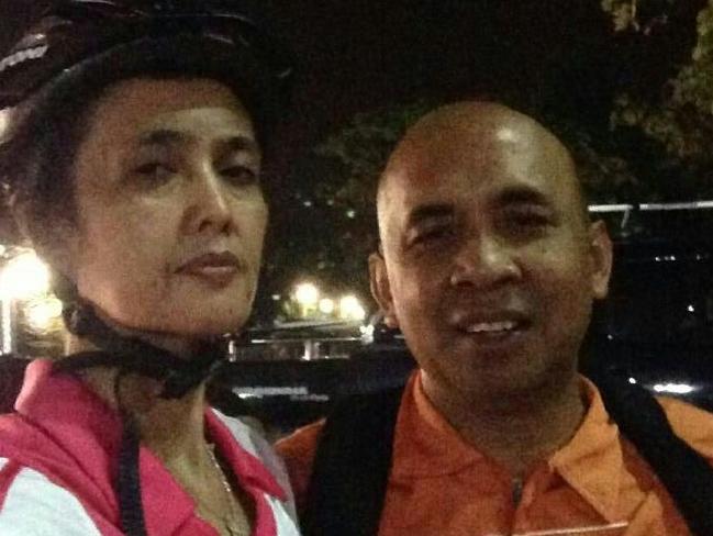 The plane's pilot, Captain Zaharie Ahmad Khan, with his wife, Faizah Khanum. Picture: Instagram