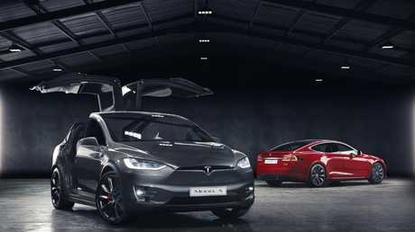 Power couple: Tesla Model X, left, and Model S.