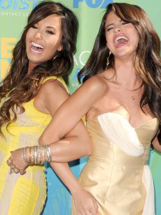 Demi Lovato and Selena Gomez in 2011. Picture: Supplied