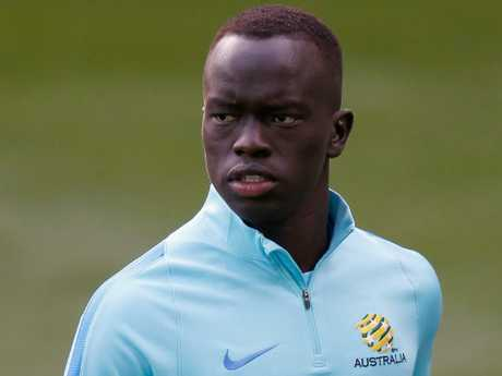Awer Mabil is a new face in the Socceroos set up.