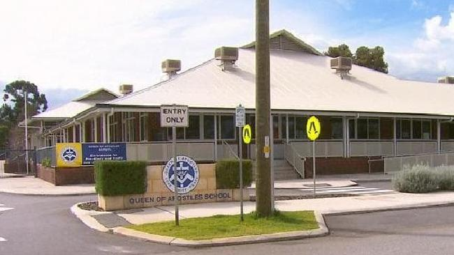 Police have been talking to the school about the incident. Picture: 9News