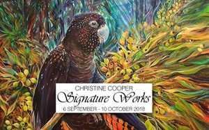 Artist Christine Cooper's 9th Exhibition at DBar House, Coolangatta.