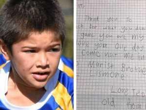 'You are my hero': Boy's heartfelt note to football star