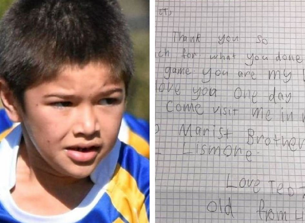 Seven-year-old Casino boy, Tao, has written an adorable letter to rugby league legend Johnathan Thurston.