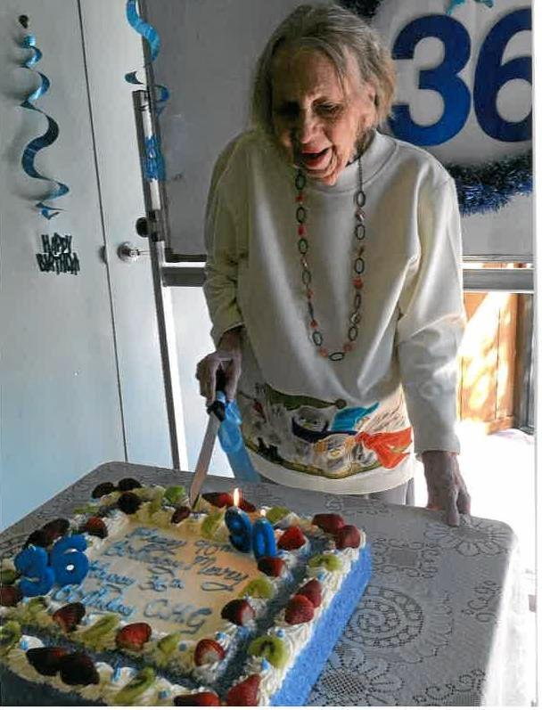Currumbin Happy Group's Mary Alexander celebrated her 90th birthday, as well as the club's 36th birthday.