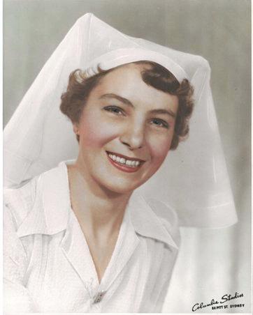 Shirley Shilvock (nee Percival) former matron of Springsure Hospital in 1954/1955.