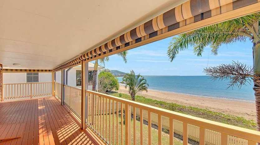 TOUCH THE SAND: 37 Wattle Grove has exceptional ocean views with the high tide mark surveyed to the front boundary. The auction is this Saturday.