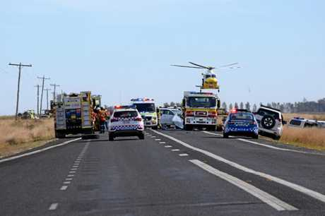 WARREGO CRASH: The Warrego Highway was closed for five hours due to the three-vehicle crash.