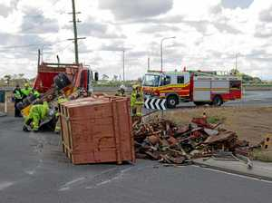 Truck rolls on Warrego Hwy entrance