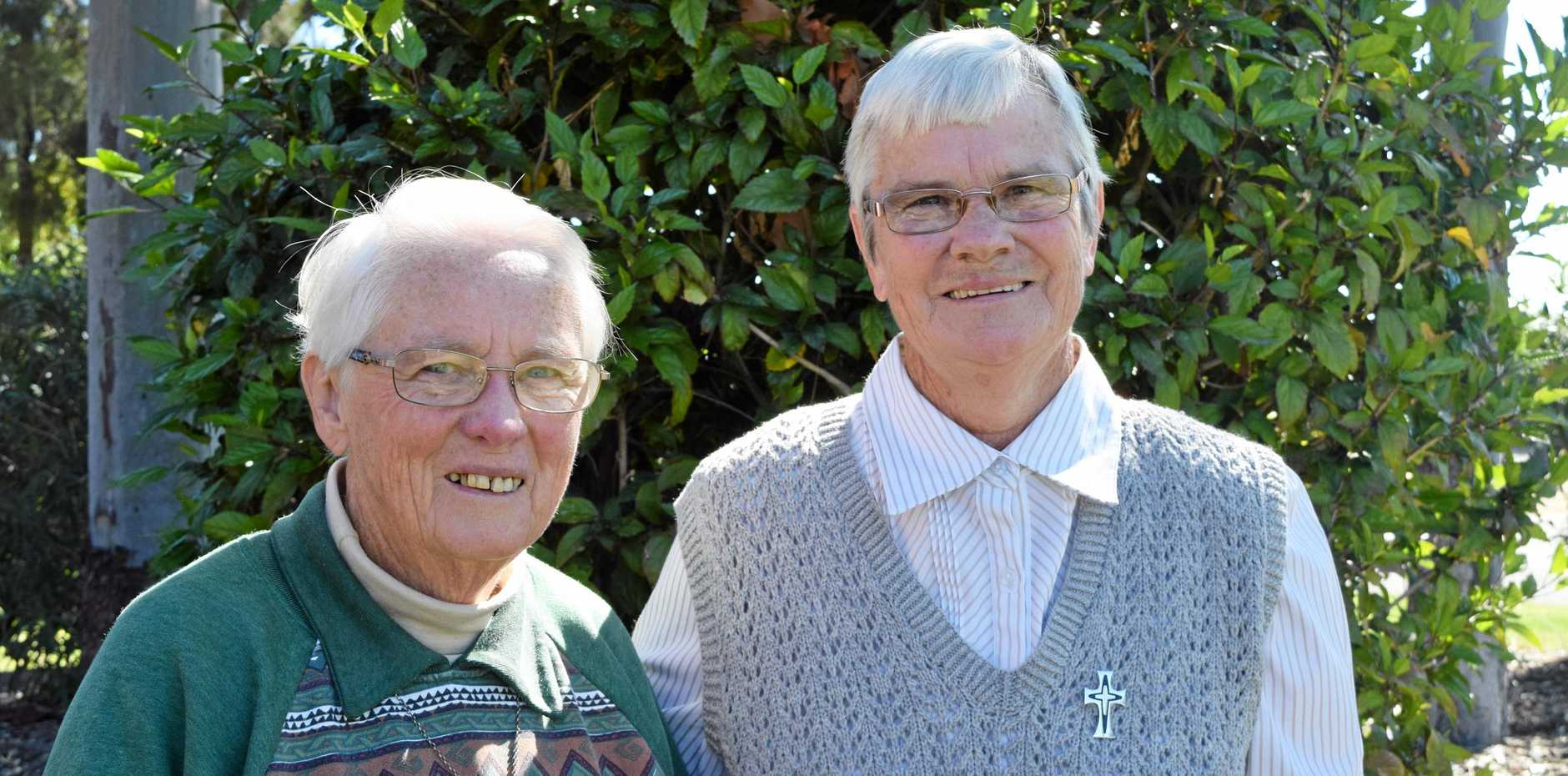 WASTE WARRIORS: Sr Carmel Boyle and Sr Colleen Livermore from Mary Immaculate Parish, Blackwater, are determined to do their bit to help those less fortunate.