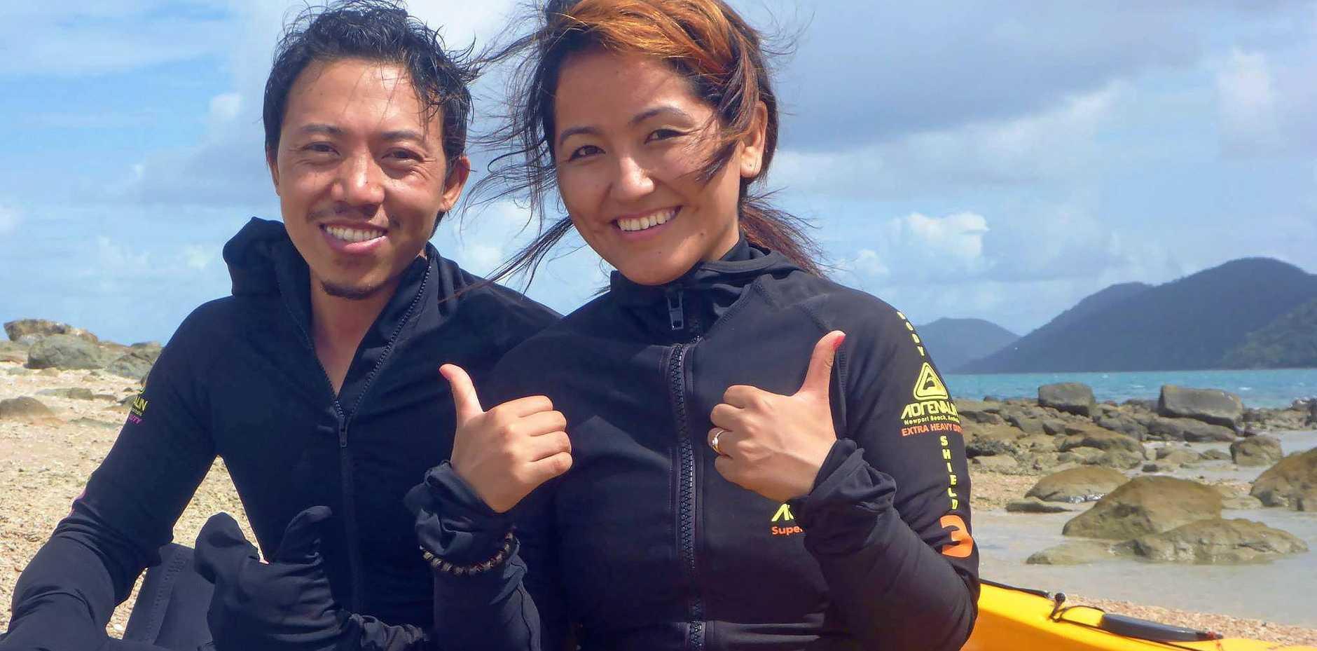 LOVE STORY: USC Fraser Coast's Jay and Dickey Lama have an international romance.