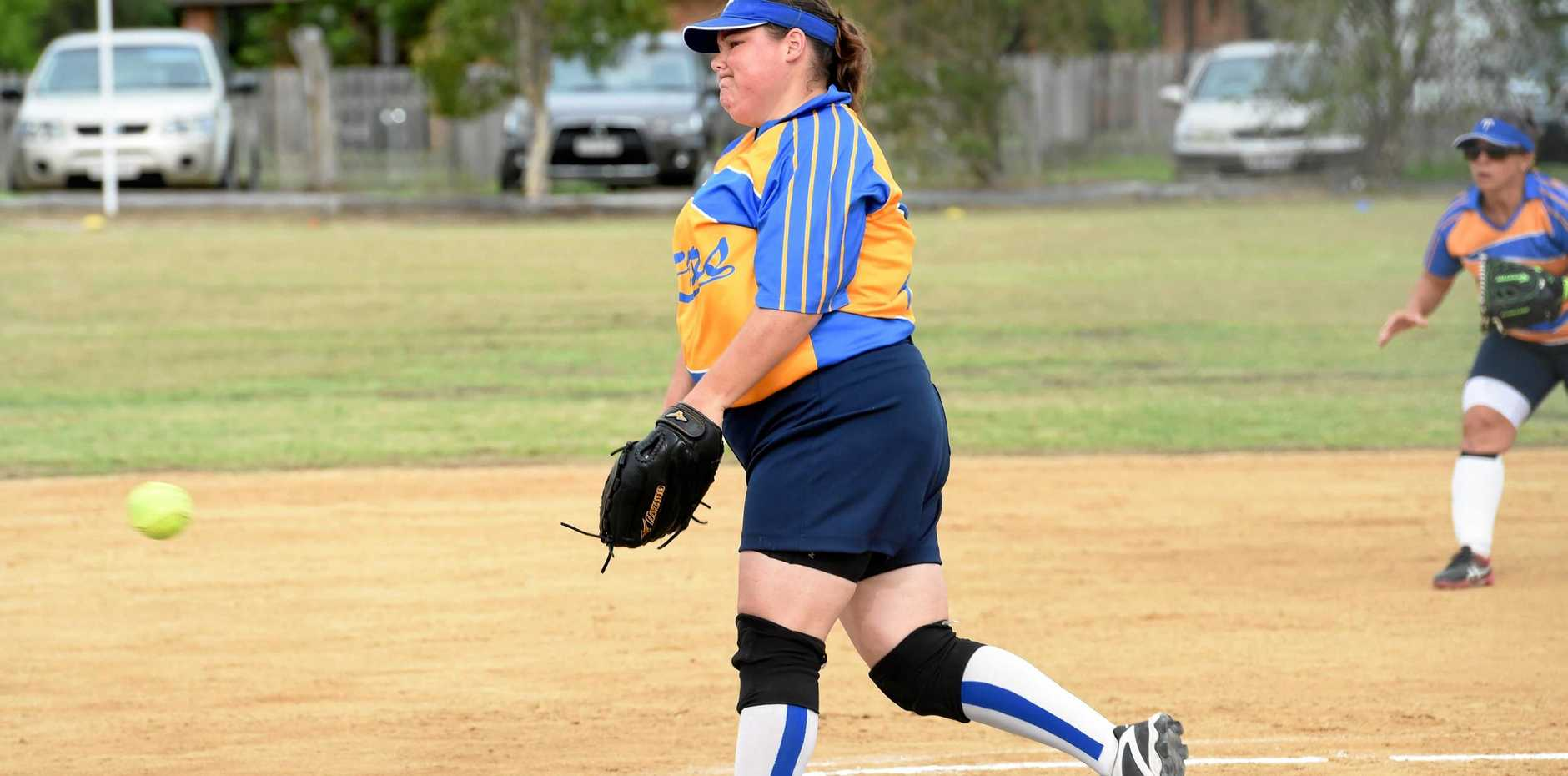 BAY IS BACK: Terrors pitcher Karen Edgerton will be among those to represent Hervey Bay's rep softball team.