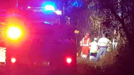 A passenger was trapped after a vehicle left the Orara Way and hit a tree north of Glenreagh on Thursday, 6th September, 2018.