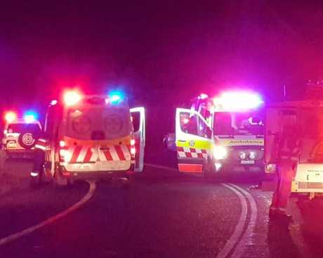 Multiple emergency service vehicles responded to a single-vehicle crash south of the Kungala Rd intersection on the Orara Way north of Glenreagh on Thursday, 6th September, 2018.