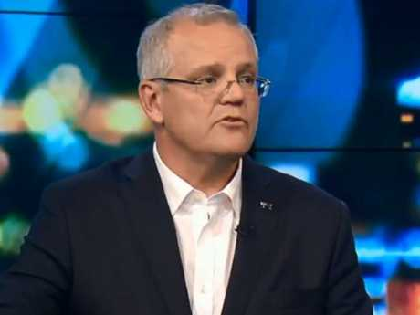 Prime Minister Scott Morrison defended his comments. Picture: Channel 10