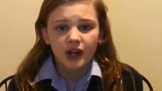 Prime Minister Scott Morrison was confronted by 13-year-old Evie on The Project. Picture: Channel 10