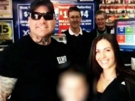 Jamie Brown in the newsagent his winning ticket came from. Picture: 7News