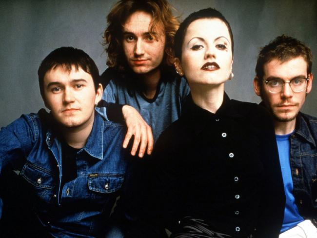 Dolores O'Riordan and the band in their early days back in 1996.
