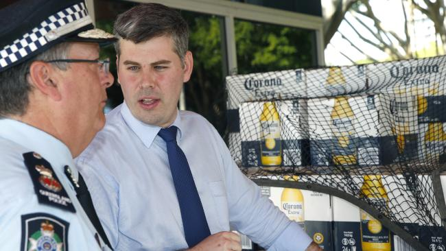 Police Commissioner Ian Stewart and Minister and for Police Mark Ryan. PICTURE: ANNA ROGERS