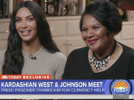 Alice Johnson meets Kim Kardashian West. Picture: Today