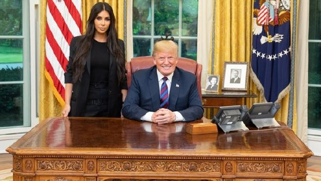 US President Donald Trump and Kim Kardashian at the White House. Picture: Instagram