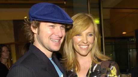 Toni Collette and husband David Galafassi in 2006.