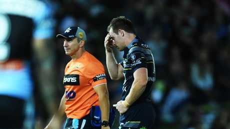 Cowboys five-eighth Michael Morgan was injured for most of the NRL season. Picture: Zak Simmonds