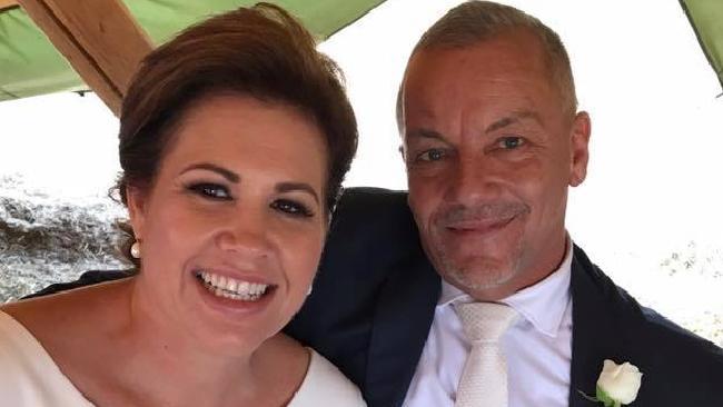 Simone Holzapfel and her husband Matt Robinson. Photo: Supplied