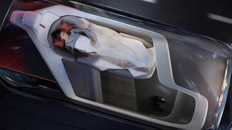 Captain snooze: Volvo 360c autonomous concept doubles as a sleeper cabin.