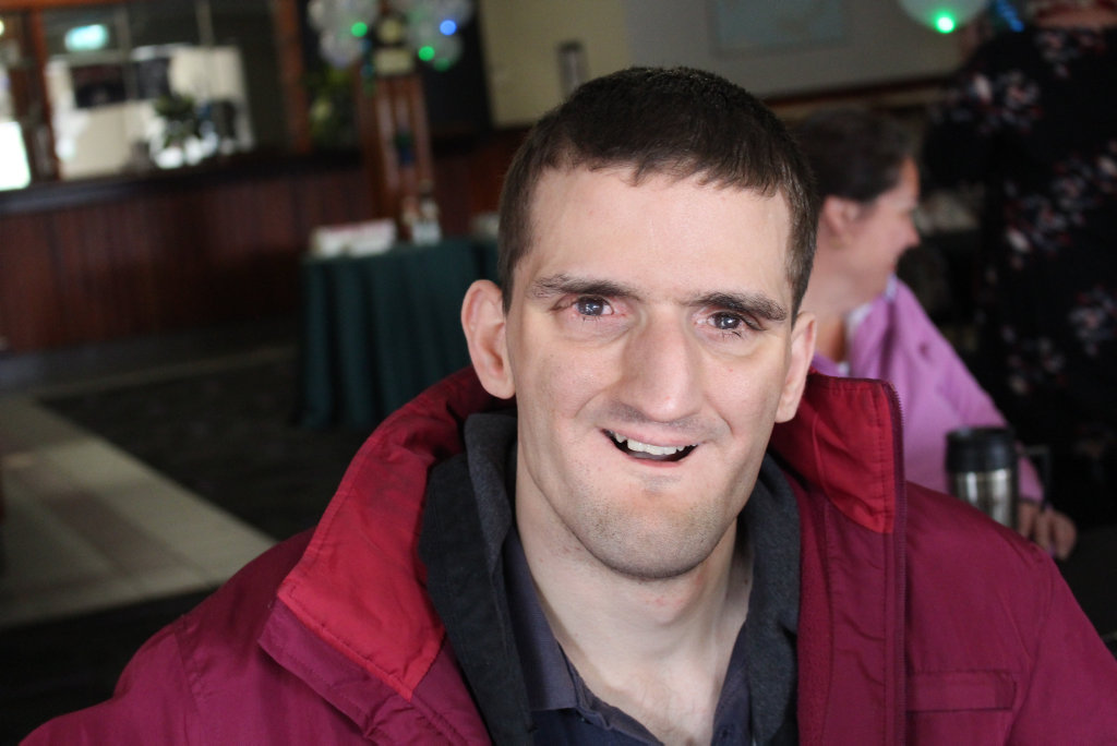 Image for sale: VOX: What's your favourite thing about the disability disco? Dancing with my friends. Jacob Coffey