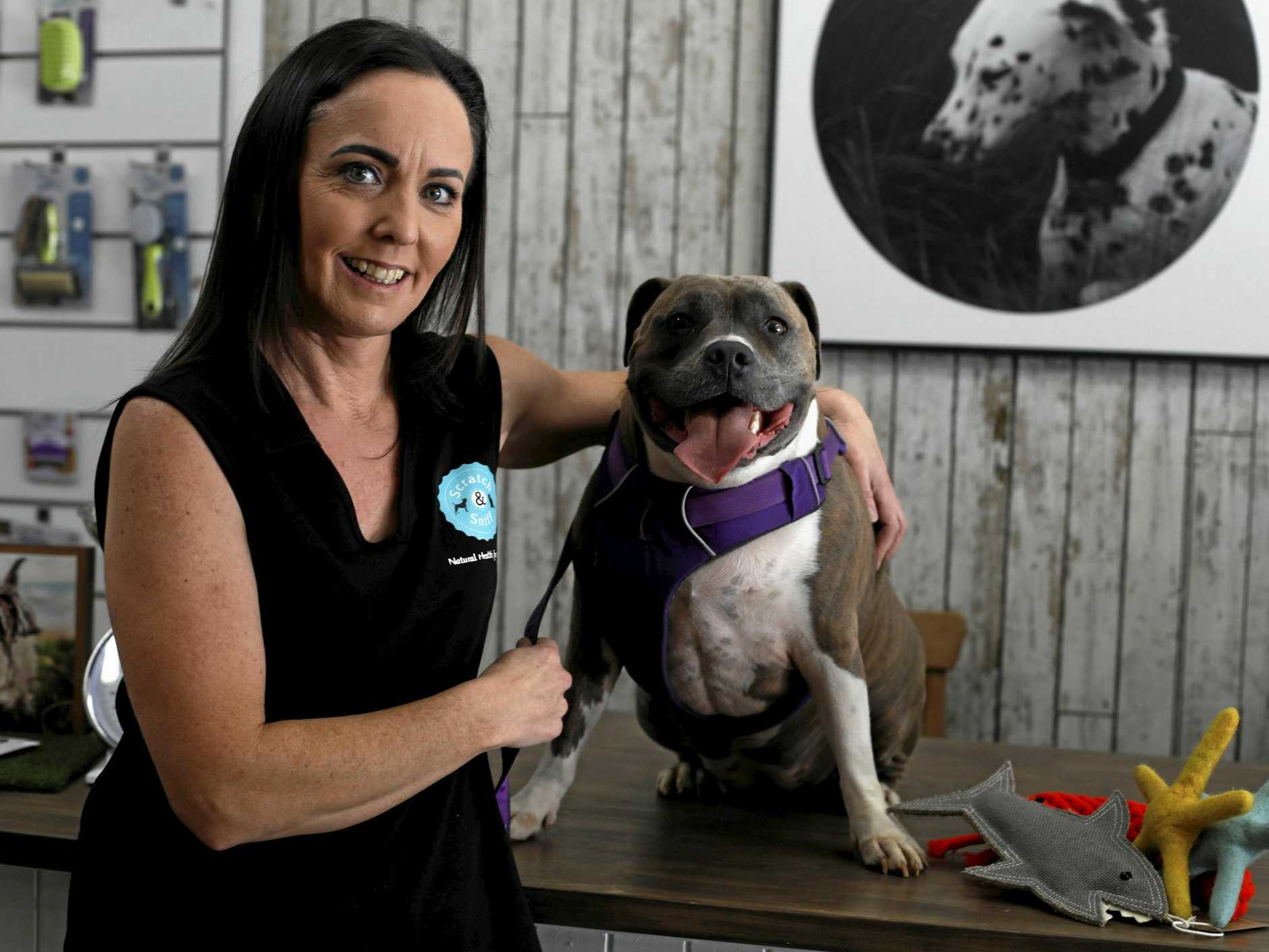 Scratch and Sniff owner Karen English with her pooch, Zoe.