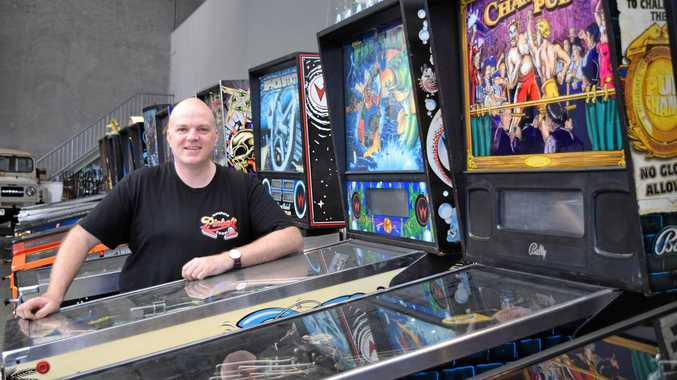 POSITIVE TILT: Pinball player, collector and promoter Vaughan Jones is ready to help flip Noosa out.