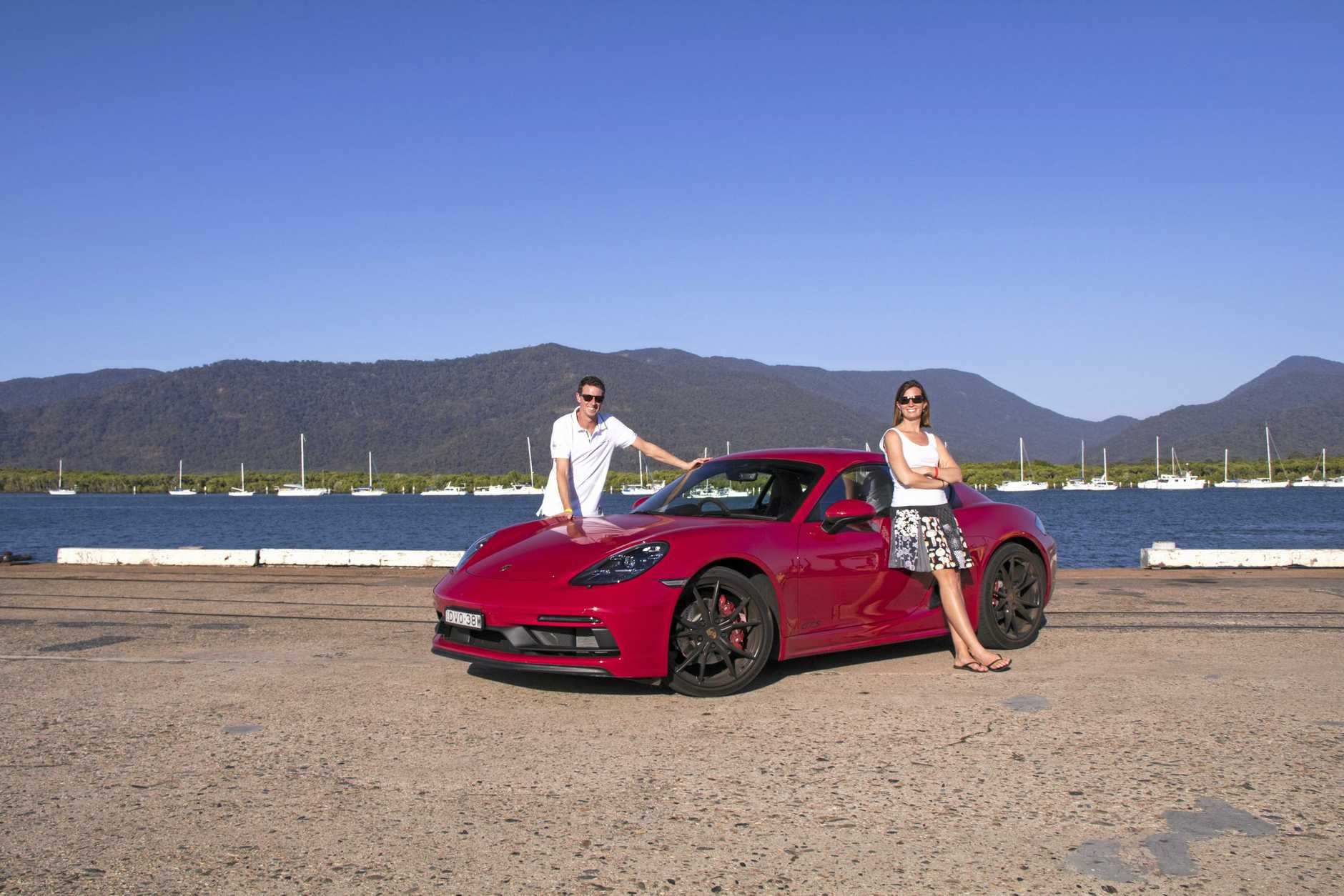 Iain Curry and Jules Lucht with their Porsche 718 Cayman GTS at Targa Great Barrier Reef.