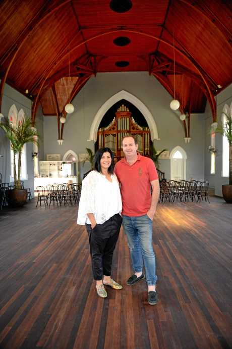 Owners Georgina and Karl Schamburg at The Church Events Venue.