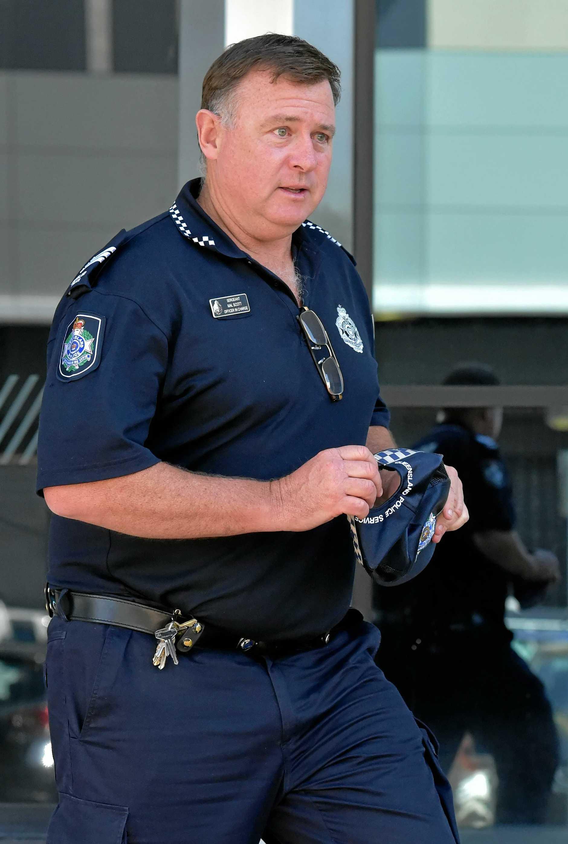 Sergeant Mal Scott leaves Maroochydore Court.