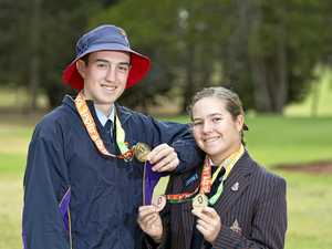 Brother and sister chip in for Queensland