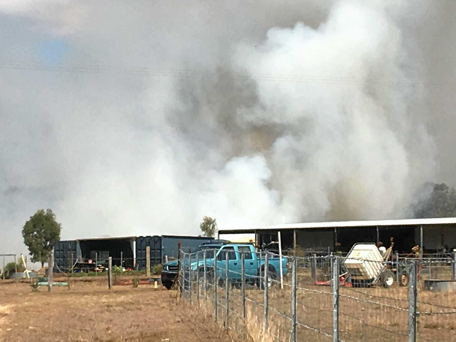 shed fire glastonbury