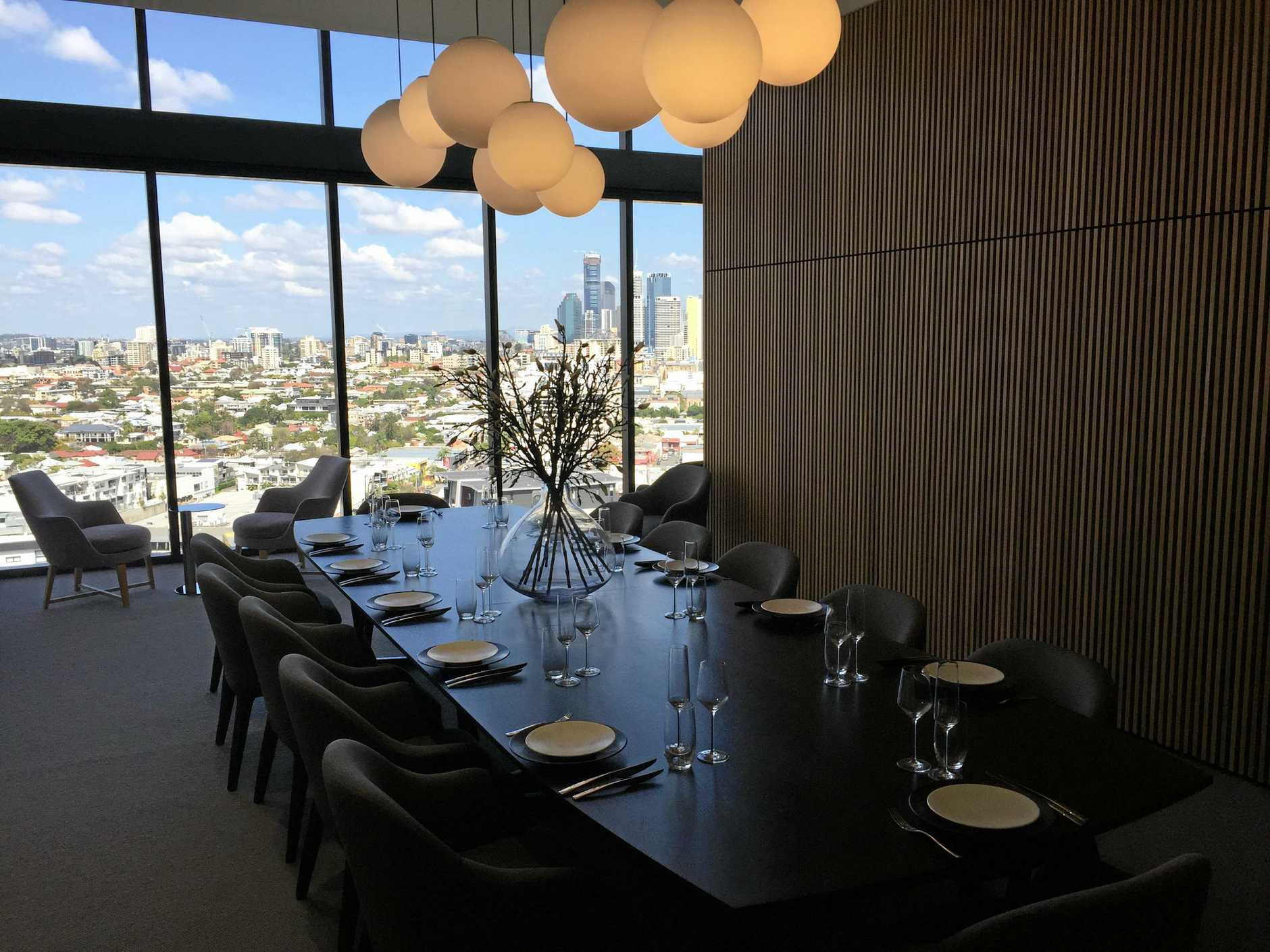 The dining room on the 19th floor of the Aveo Newstead Retirement Community which is all part of the benefits for residents in the vertical village.