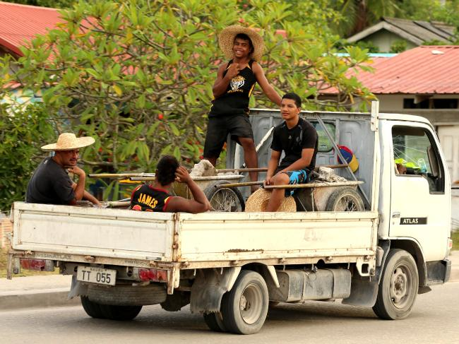 Local Nauruans go about their daily life. Pictures: Nathan Edwards
