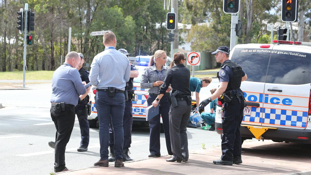 Police and paramedics at Coombabah. Photo by Richard Gosling