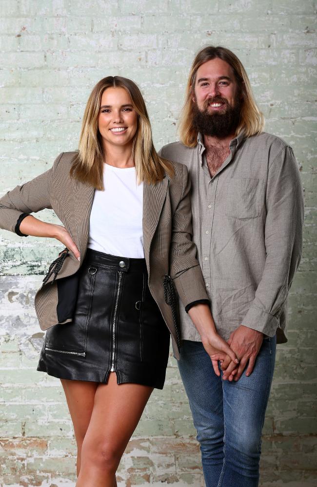 Bree Warren with her fiance Mitch McCann. Pics Adam Head