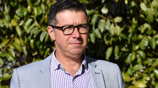 Ipswich City Council's suspended Mayor Andrew Antoniolli at court. AAP Image/Darren England)