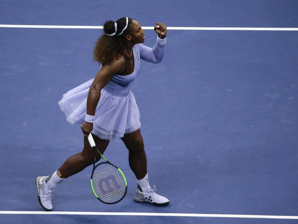 Serena Williams heads for victory over Anastasija Sevastovae. Picture: AP