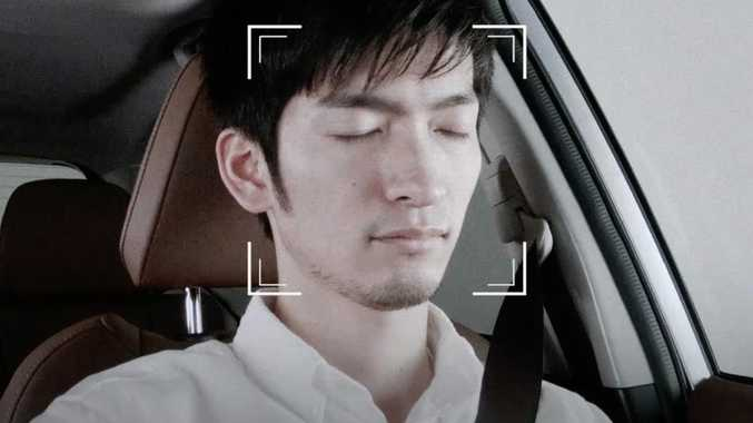 Subaru Infrared Driver Monitoring System detects drowsy drivers and those distracted by mobile phones. Picture: Supplied.