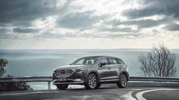 Stylish exterior: The facade of the CX-9 has remained unchanged.